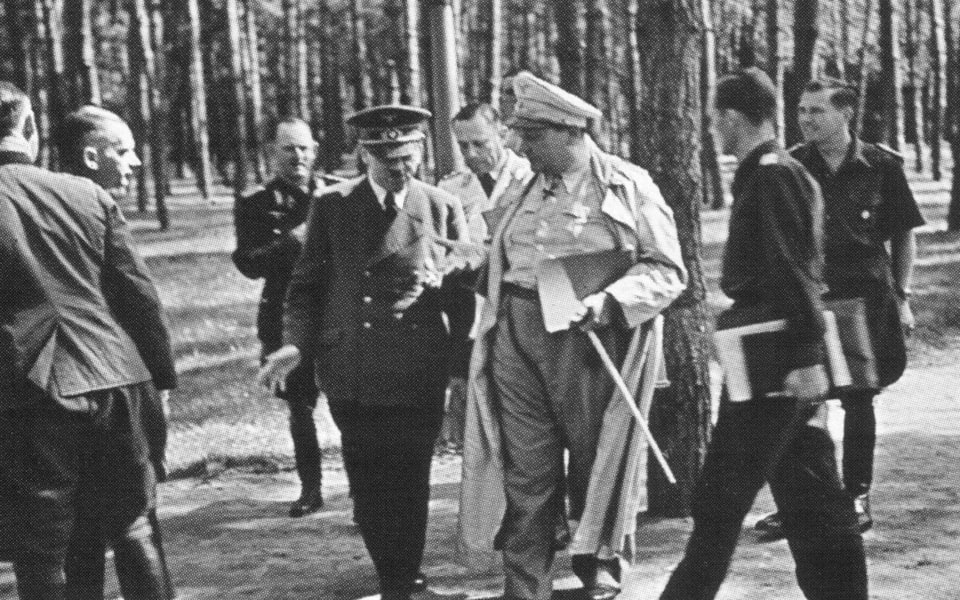 ADolf Hitler and Goering in wehrwolf
