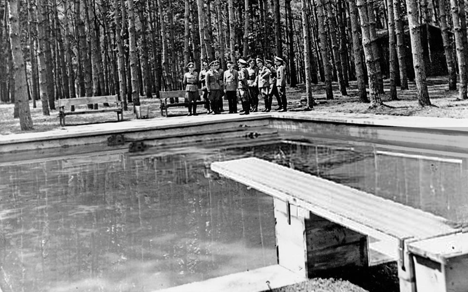 The so-called Hitler's swimming pool at Wehrwolf