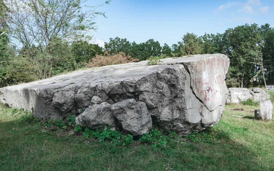 THE RUINS OF THE BOMB-SHELTER WEHRWOLF