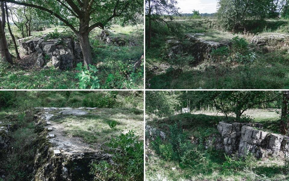 The ruind og the Hitler's bunker in Ukraine