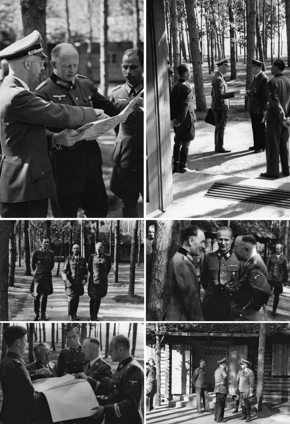 Heinrich Himmler at the Wehrwolf headquarters of Hitler in Ukraine