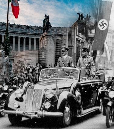 HITLER VISITS ROME: 1938