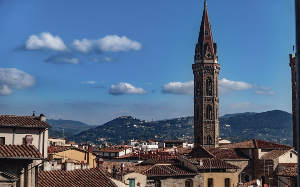 The panorama over Florence as it is today