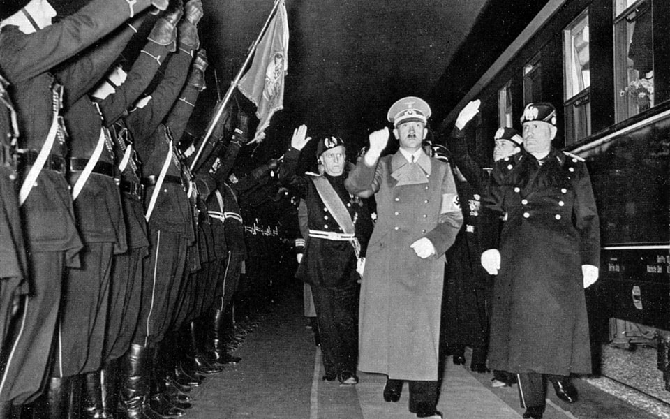 Hitler leaves Santa Maria Novella May 9, 1938