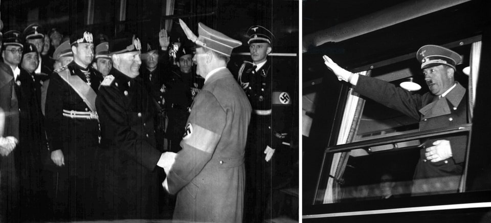 Hitler leaves Florence by train May 9, 1938