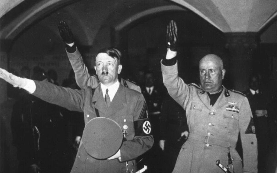 Hitler and Mussolini visits BASILICA DI SANTA CROCE