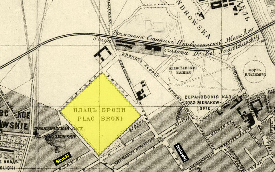 Warsaw, map 1879