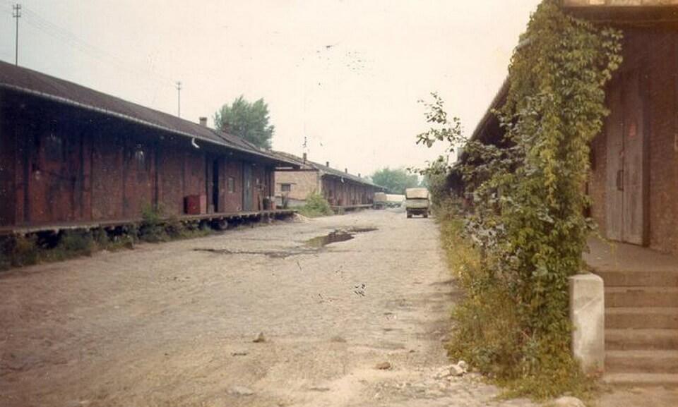 The former storage facilities, Umschlagplatz, Warsaw 1970s