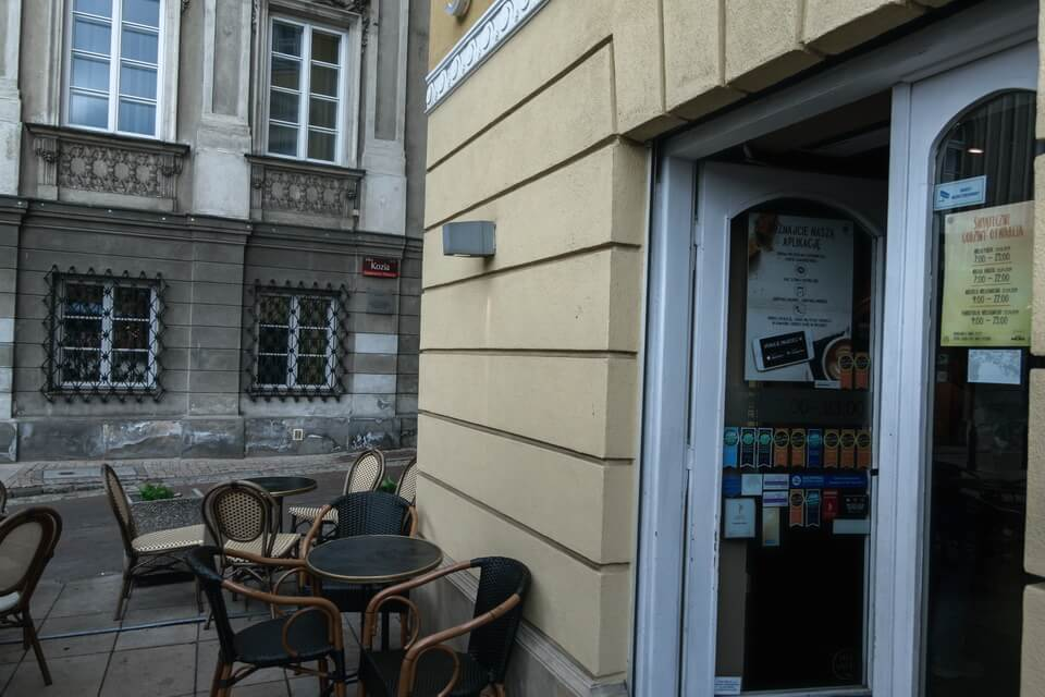 The corner of Kozia street and Krakowskiego Predmescie