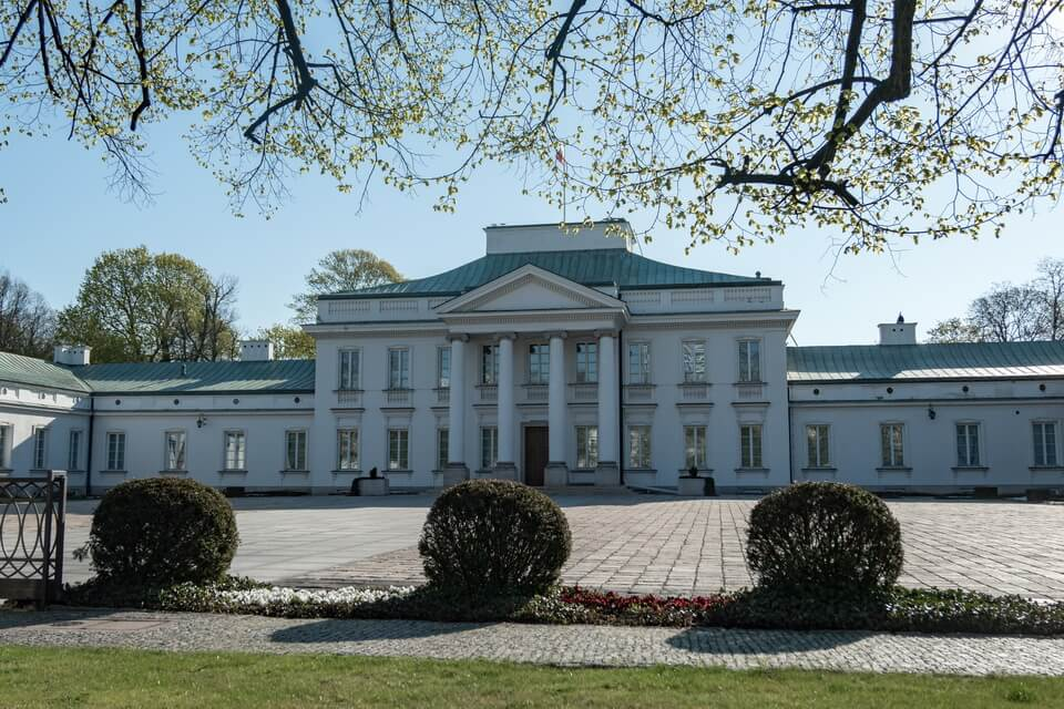 BELVEDERE PALACE in Warsaw today