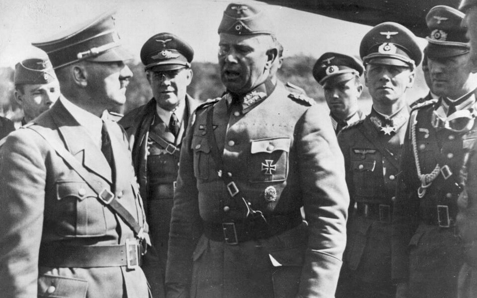 Adolf Hitler and Walter Reichenau
