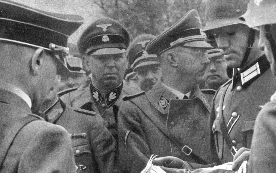 Heinrich Himmler in Poland next to Hitler 1939