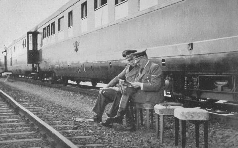 'Führersonderzug' (Fuhrer's special train) in Poland