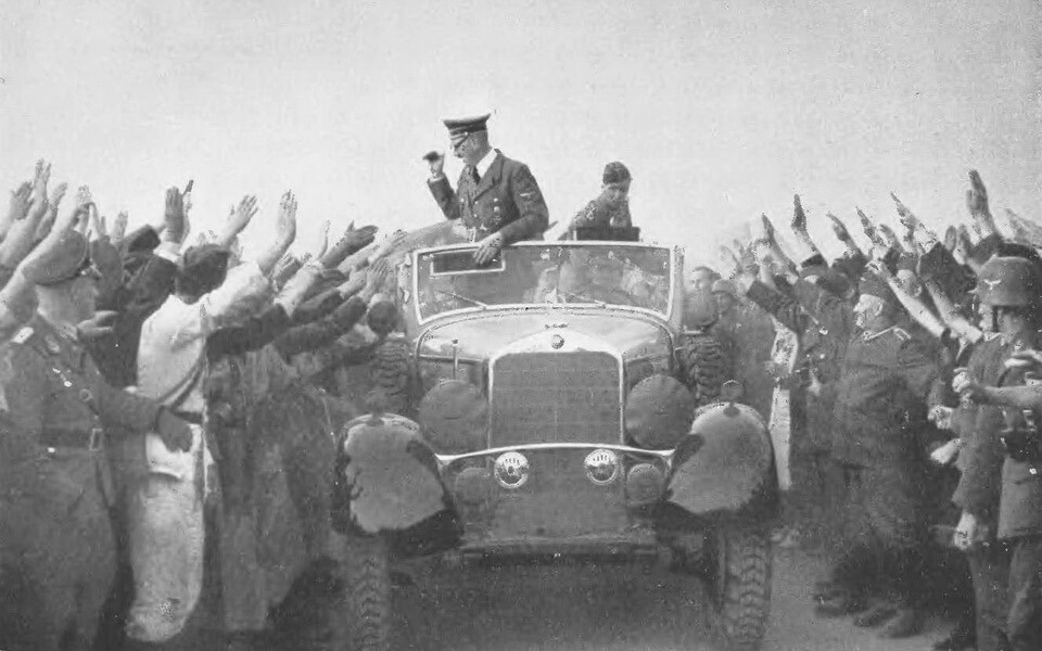Adolf Hitler visited the Polish front in 1939