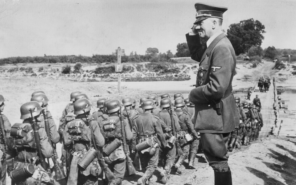 ADolf Hitler in Poland. September 1939