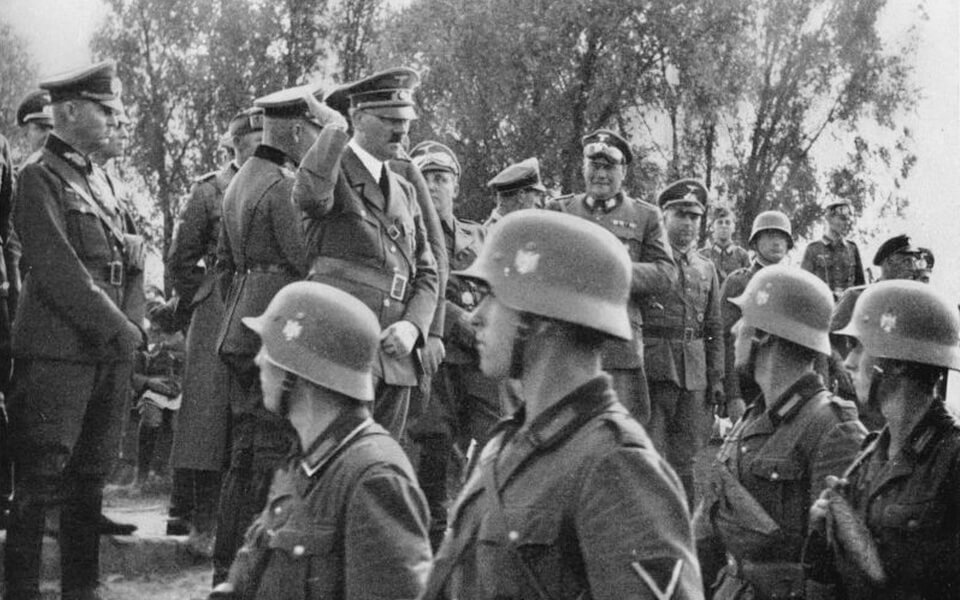 Erwin Rommel and Hitler in Poland
