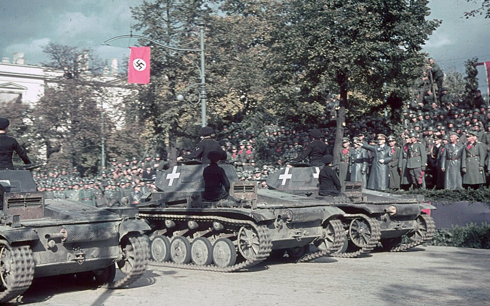 German military parade in Warsaw