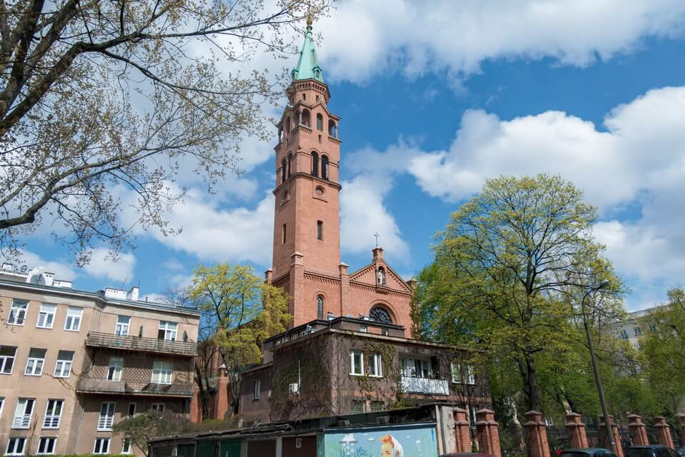 'Kościół św. Augustyna w Warszawie' (St. Augustine's Church) today in Warsaw