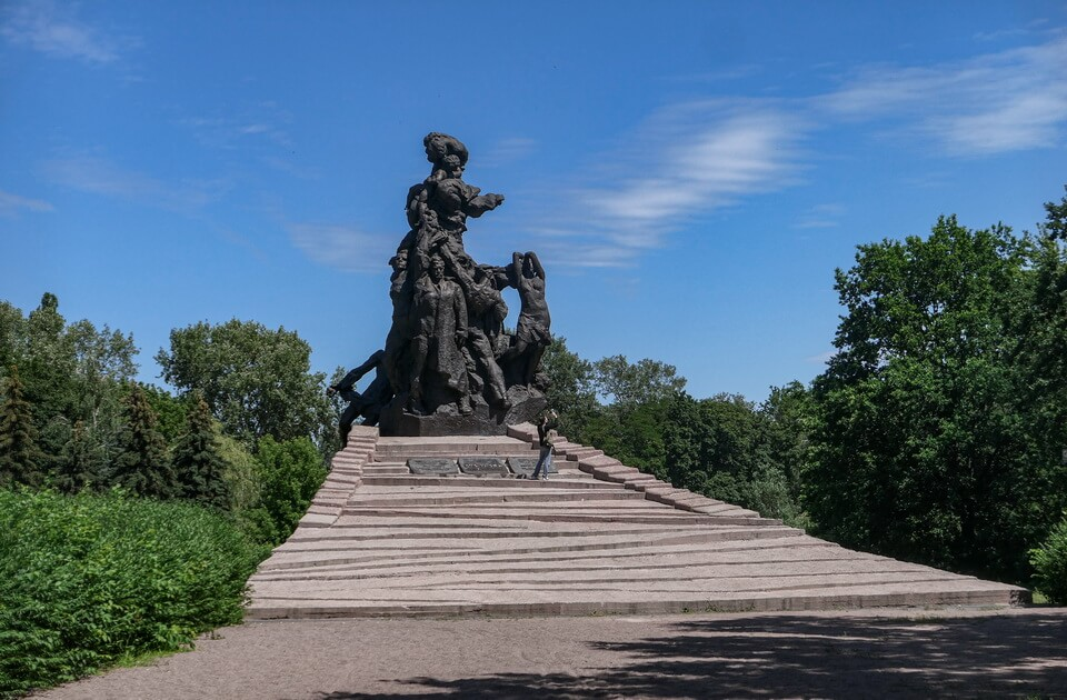 Soviet Monument to the victims of the Babi yar massacre