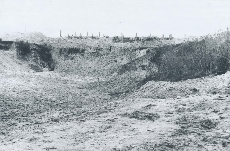 The after-war photo of the Babi yar ravine