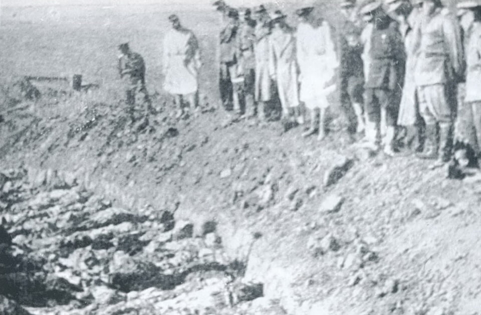 The recovered mass graves 1944, Kyiv, Ukraine