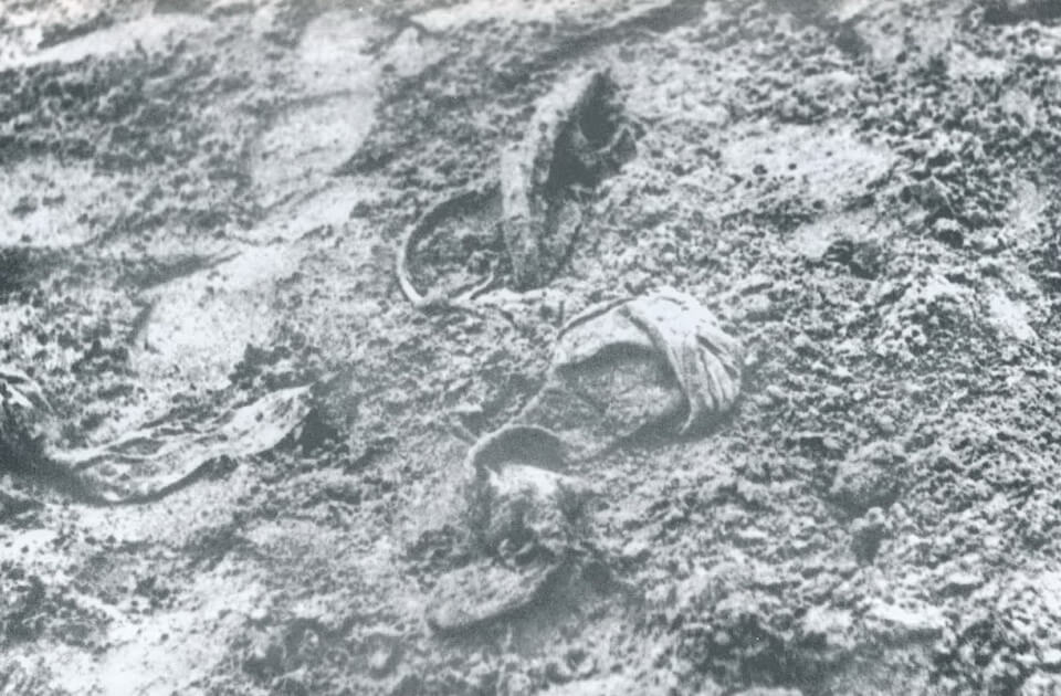The recovered belongings of the victims in Babi yar massacre