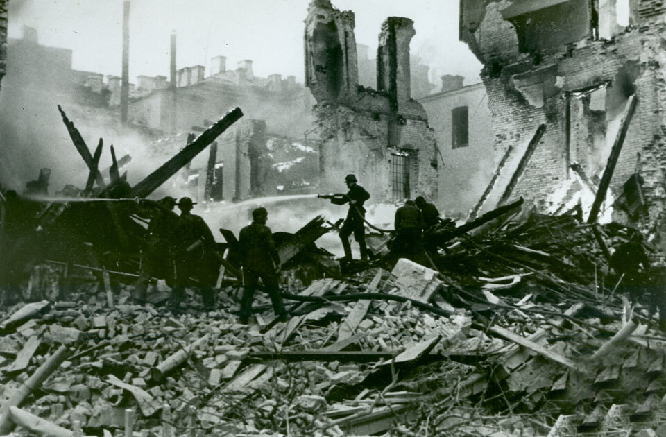 'Great fire in Kyiv' September 1941