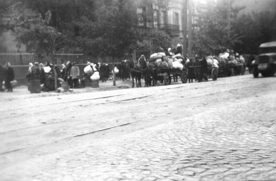 Babi yar tragedy, Jews in the streets of Kiev Septermber 1941