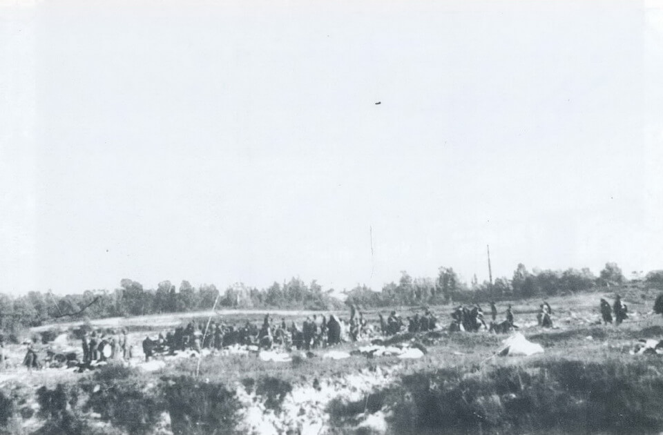 Septermber 29, 1941 Germans sort the taken belongings of the victims of Babi yar