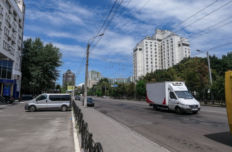 Melnikova street in Kyiv close to the Septermber 29, 1941 assembly point