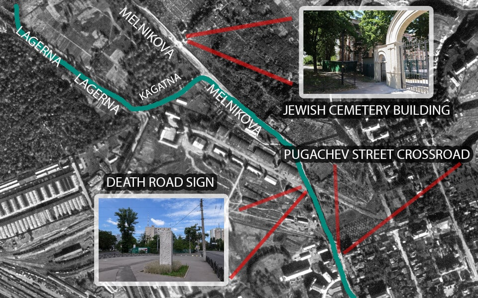 The death road of the Jews towards Babi yar