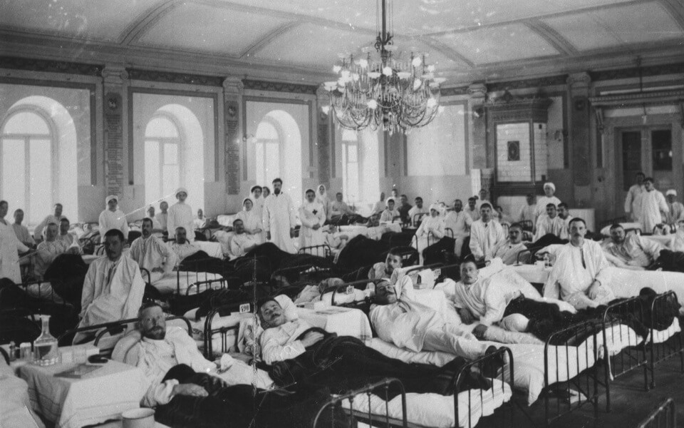 Pavlov Mental clinic during Great War 1914