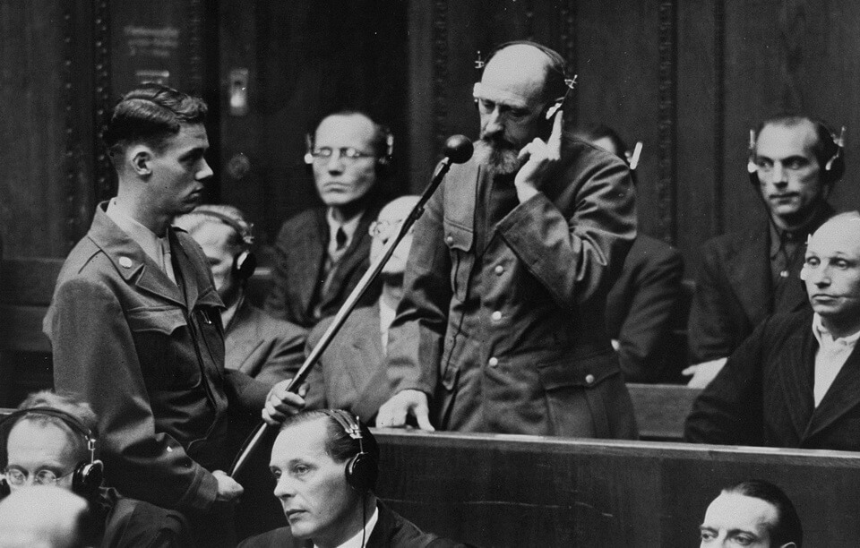 Paul Blober testifies at Nuremberg in 1946