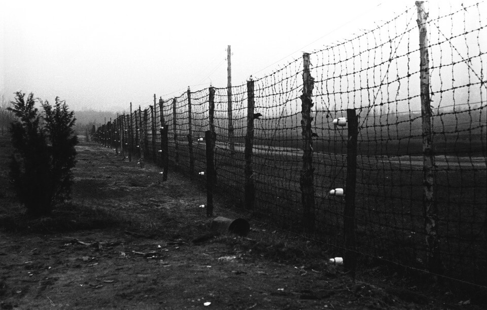 The outer perimeter of the Syrets concentration camp