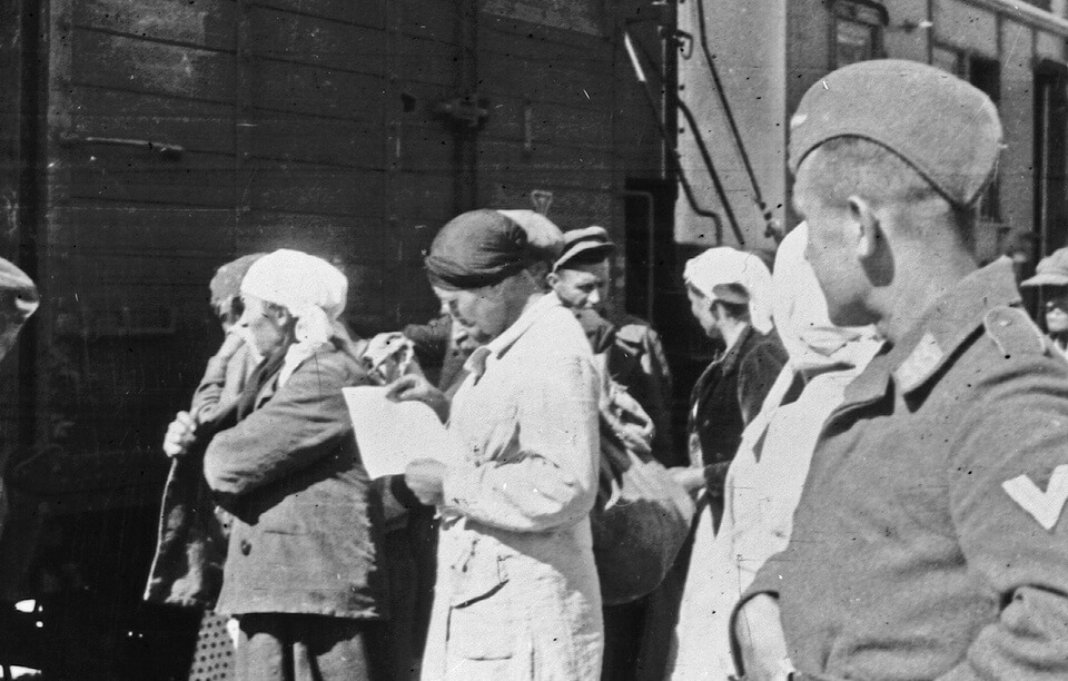 Kyiv citizens prior to being transported to Germany for work