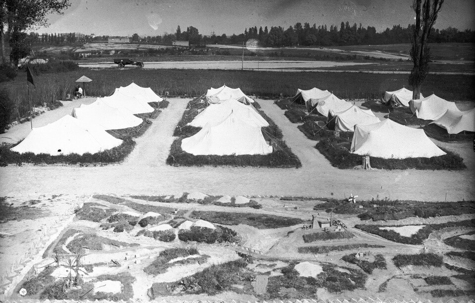 The Syrets military camps back in the 1920s, Kyiv, Ukraine