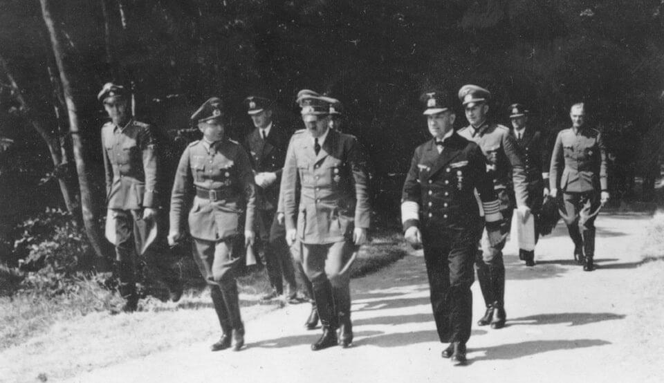 Adolf Hitler at FHQ 'Wolfsschlucht' June 1940