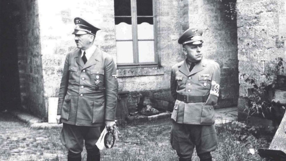 Adolf Hitler and Max Amann june 1940