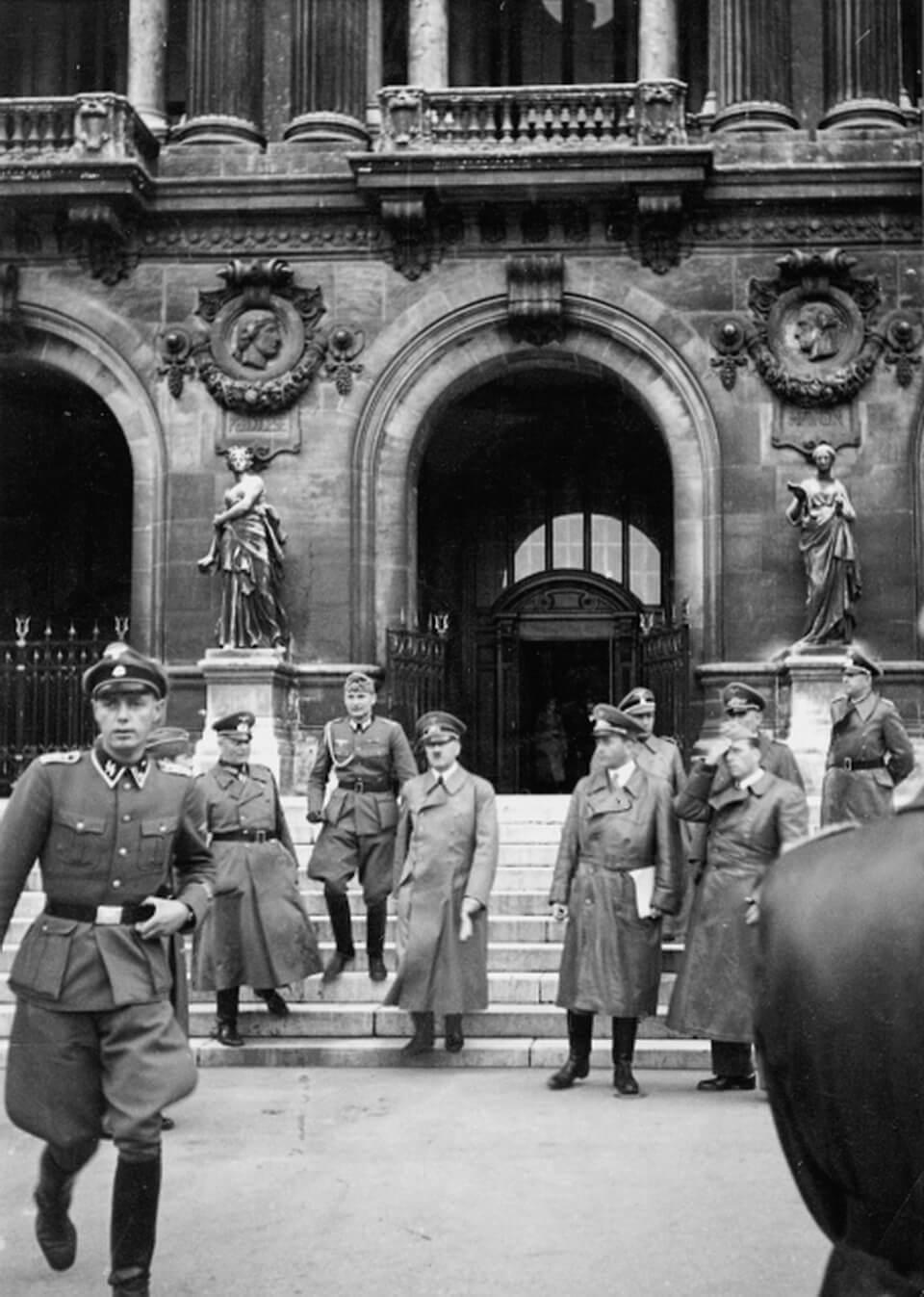 Hitler leaves OPERA GARNIERin Paris, June 14, 1940