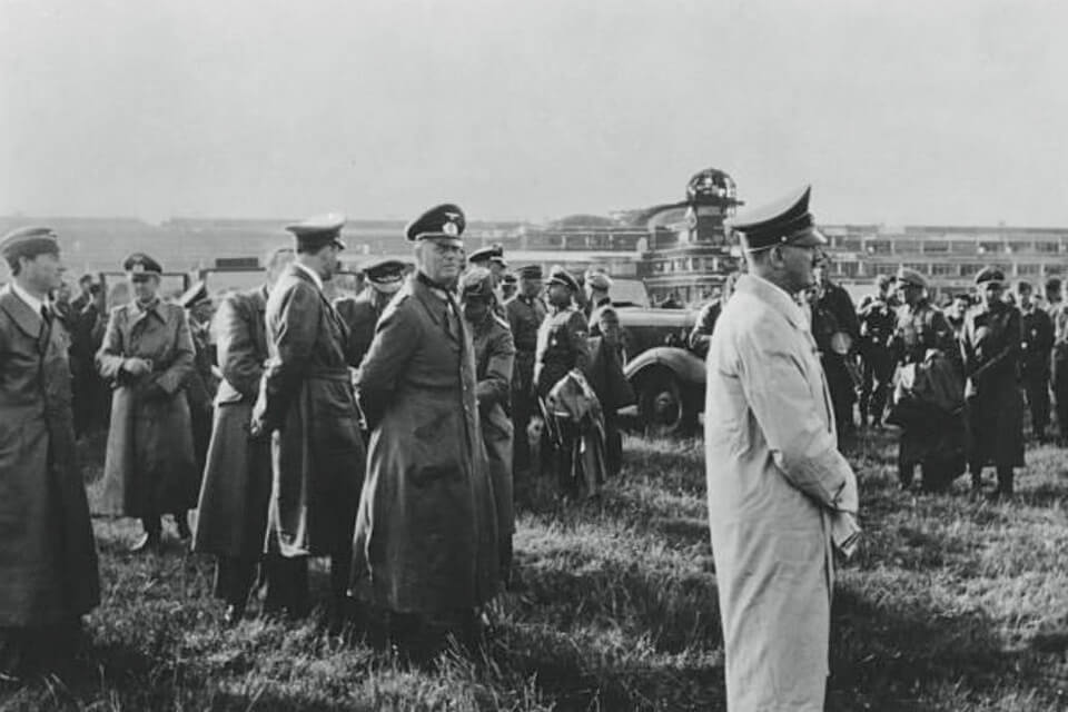 Hitler at 'Le Bourget' landing field, June 23 1940