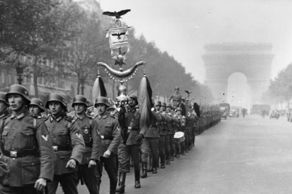 German troops at the streets of Paris
