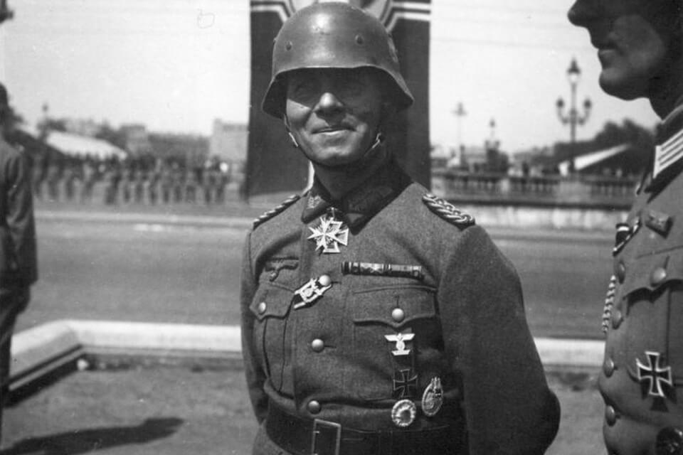 General Erwin Rommel in Paris, June 1940