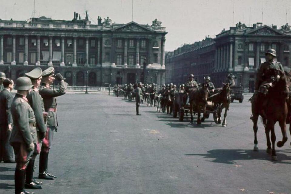 German parade of Victory, PLACE DE LA CONCORDE June 14