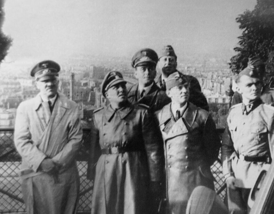 Hitler at 'Basilique du Sacré-Cœur'