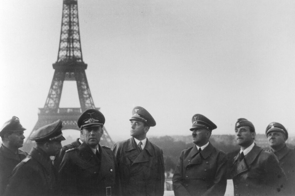 Adolf Hitler and the Eiffel Tower