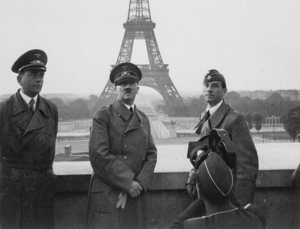 Albert Speer, Adolf Hitler and Arno Breker at the Trocadero