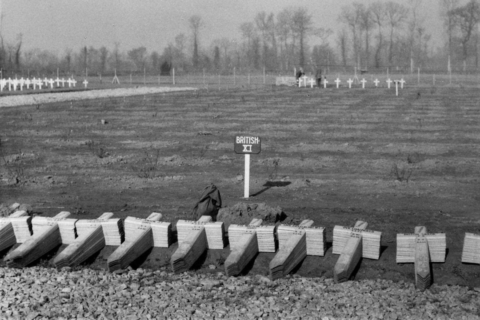 BRITISH MILITARY CEMETERYin Bayeux 1944