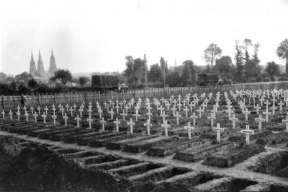 BRITISH MILITARY CEMETERYin Normandy, 1944