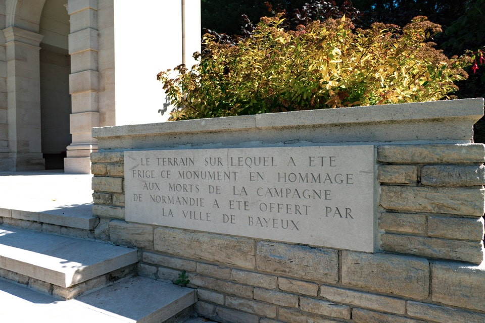 'Memorial of the Missing' Bayeux cemetery