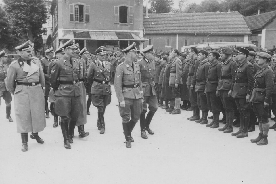 The Reichsfuhrer Heinrich Himmler and the French POWs